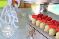 Sweet table bonbons strikjes rood